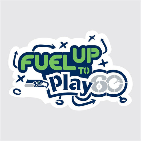 Seahawks Fuel Up to Play 60 NFL Team Logo Stencil