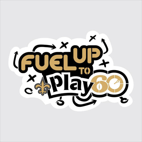 Saints Fuel Up to Play 60 NFL Team Logo Stencil