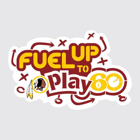 Redskins Fuel Up to Play 60 NFL Logo Stencil