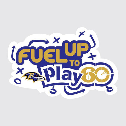 Ravens Fuel Up to Play 60 NFL Team Stencil