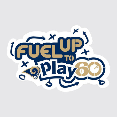 Rams Fuel Up to Play 60 NFL Teams Stencil