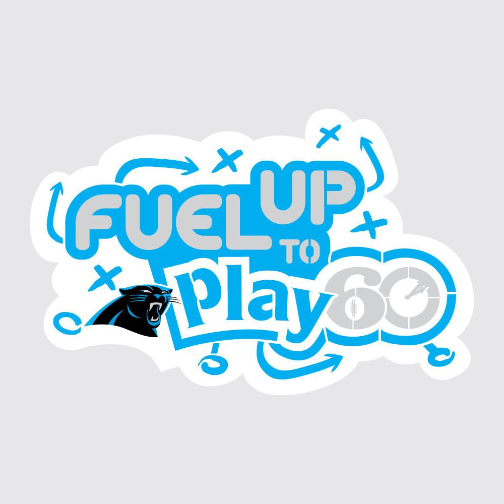 Panthers Fuel Up to Play 60 NFL Team Stencil
