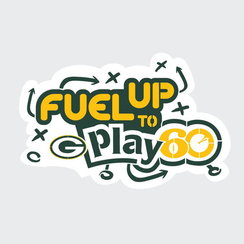 Packers Fuel Up to Play 60 NFL Teams Stencil