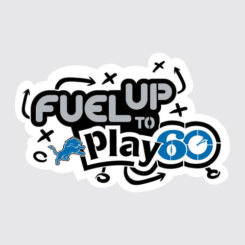 Lions Fuel Up to Play 60 NFL Teams Stencil