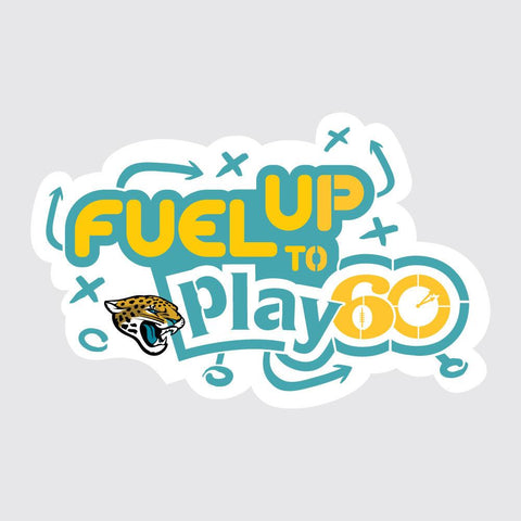 Jaguars Fuel Up to Play 60 NFL Teams Stencil