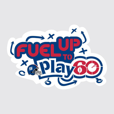 Giants Fuel Up to Play 60 NFL Teams Stencil