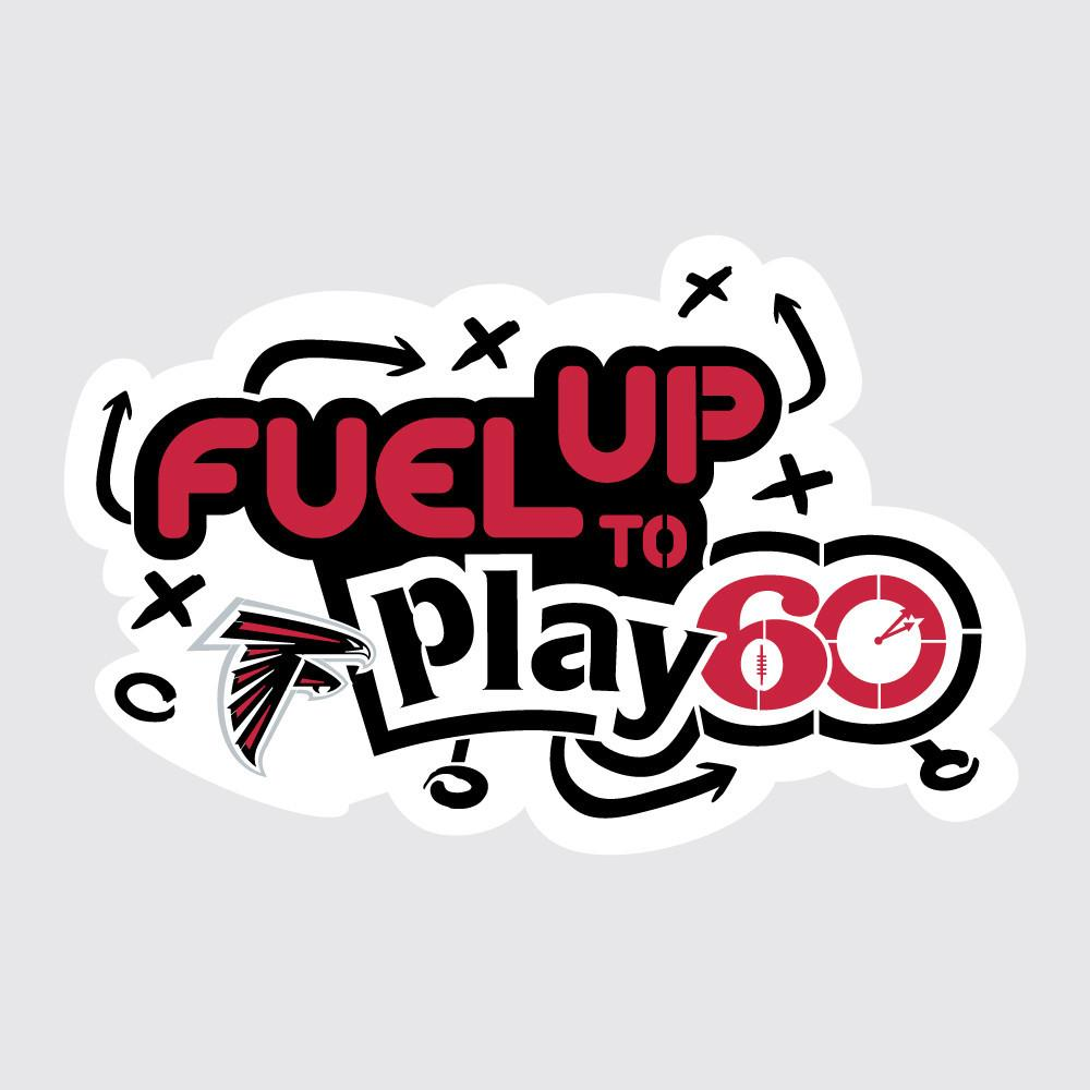 Falcons Fuel Up to Play 60 NFL Teams Stencil