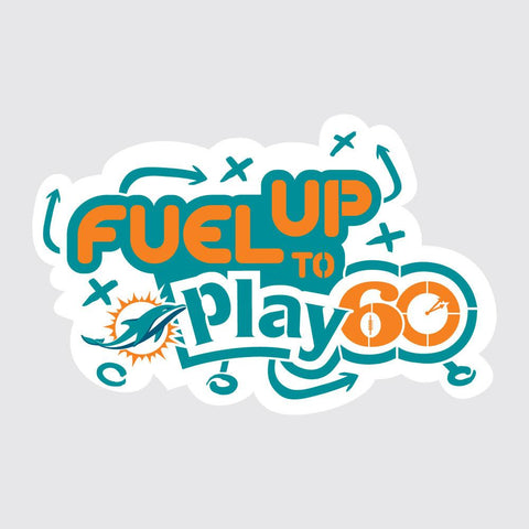 Dolphins Fuel Up to Play 60 NFL Teams Stencil