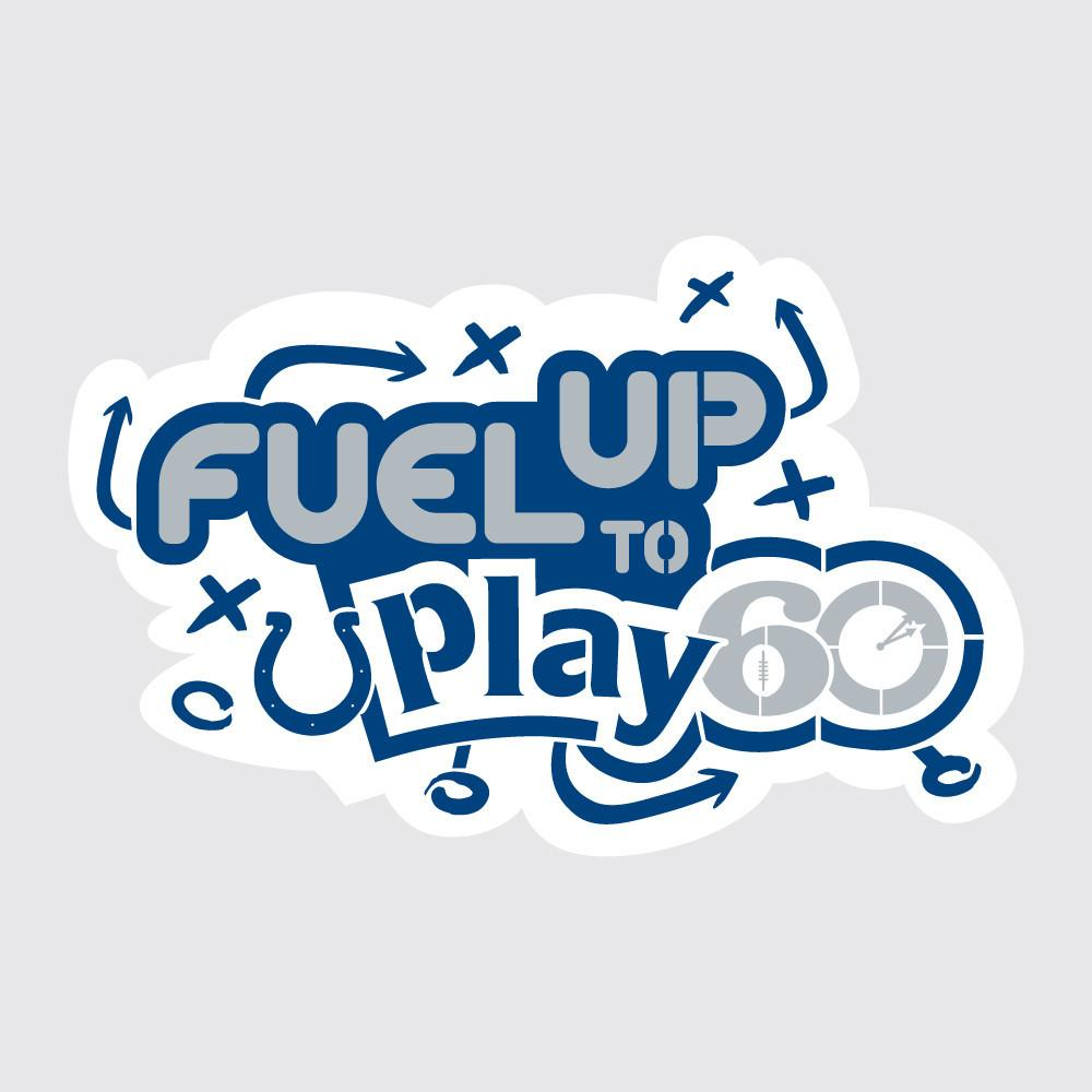 Colts Fuel Up to Play 60 NFL Teams Stencil