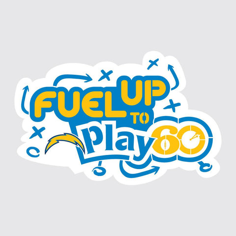 Chargers Fuel Up to Play 60 NFL Teams Stencil