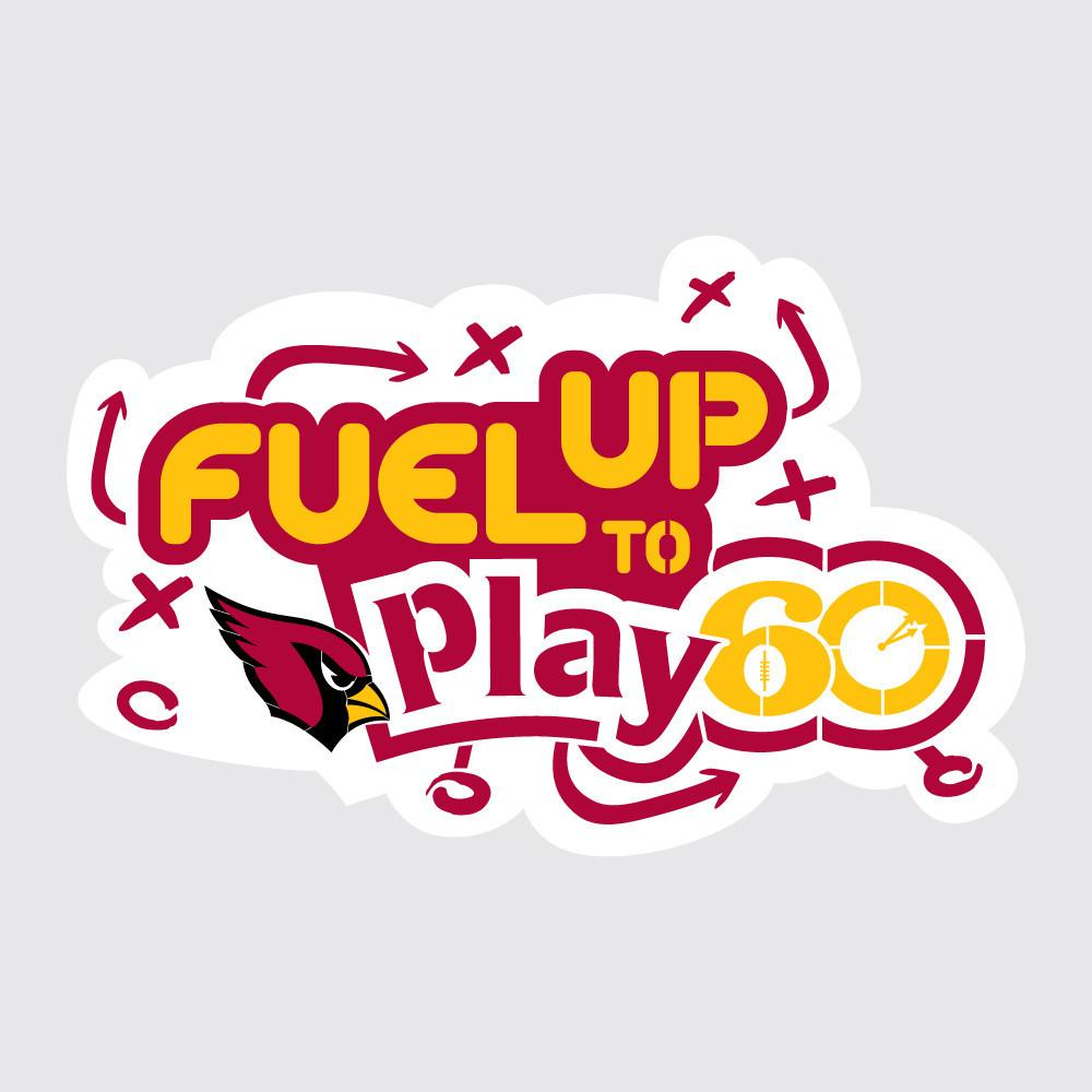 Cardinals Fuel Up to Play 60 NFL Logo Stencil