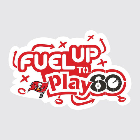 Buccaneers Fuel Up to Play 60 NFL Logo Stencil