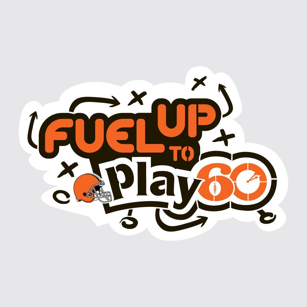 Browns Fuel Up to Play 60 NFL Logo Stencil