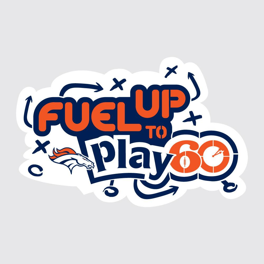 Broncos Fuel Up to Play 60 NFL Logo Stencil