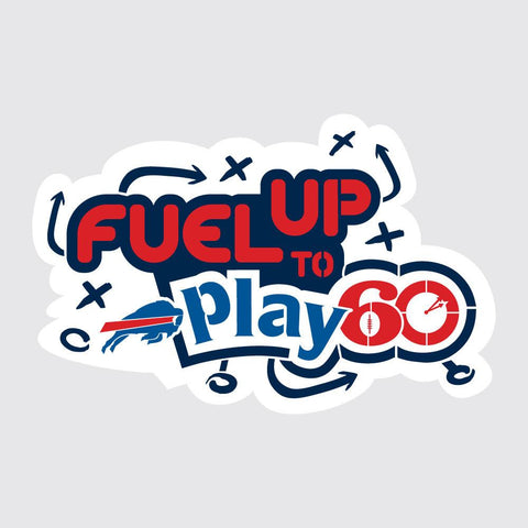 Bills Fuel Up to Play 60 NFL Logo Stencil