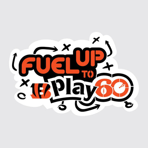 Bengals Fuel Up to Play 60 NFL Logo Stencil