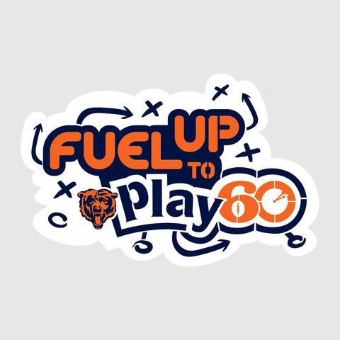 Bears Fuel Up to Play 60 NFL Logo Stencil