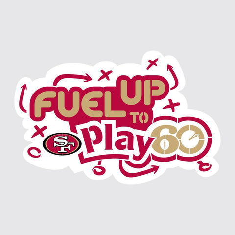 49ers Fuel Up to Play 60 NFL Teams Stencil