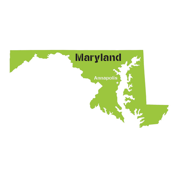 Maryland State Map Stencil