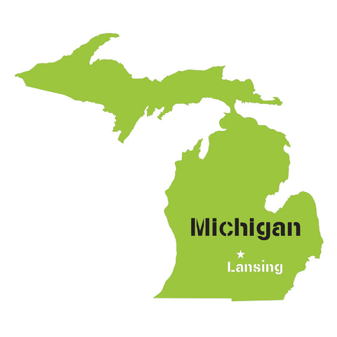 Michigan State Map Stencil