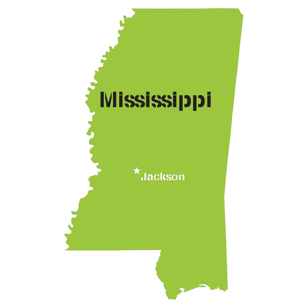 Mississippi State Map Stencil