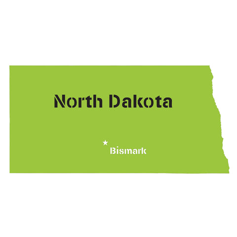North Dakota State Map Stencil