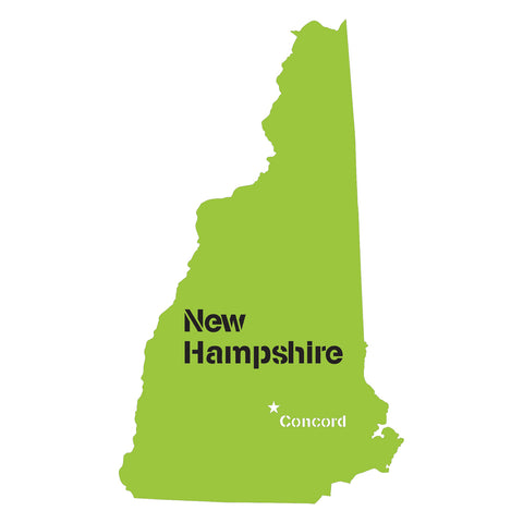 New Hampshire State Map Stencil