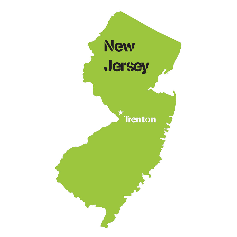 New Jersey State Map Stencil