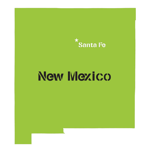 New Mexico State Map Stencil