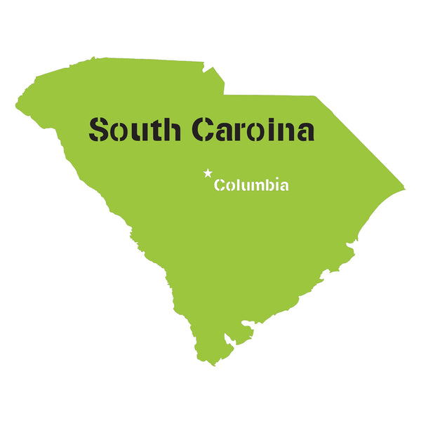 South Carolina State Map Stencil