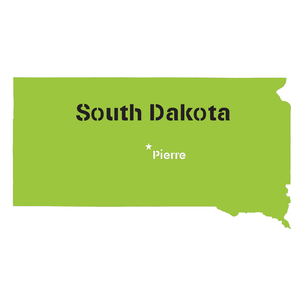 South Dakota State Map Stencil