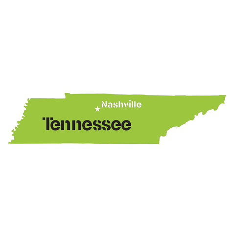 Tennessee State Map Stencil