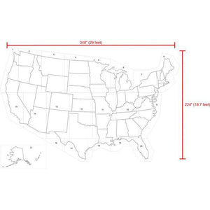 United States Map Educational Stencil