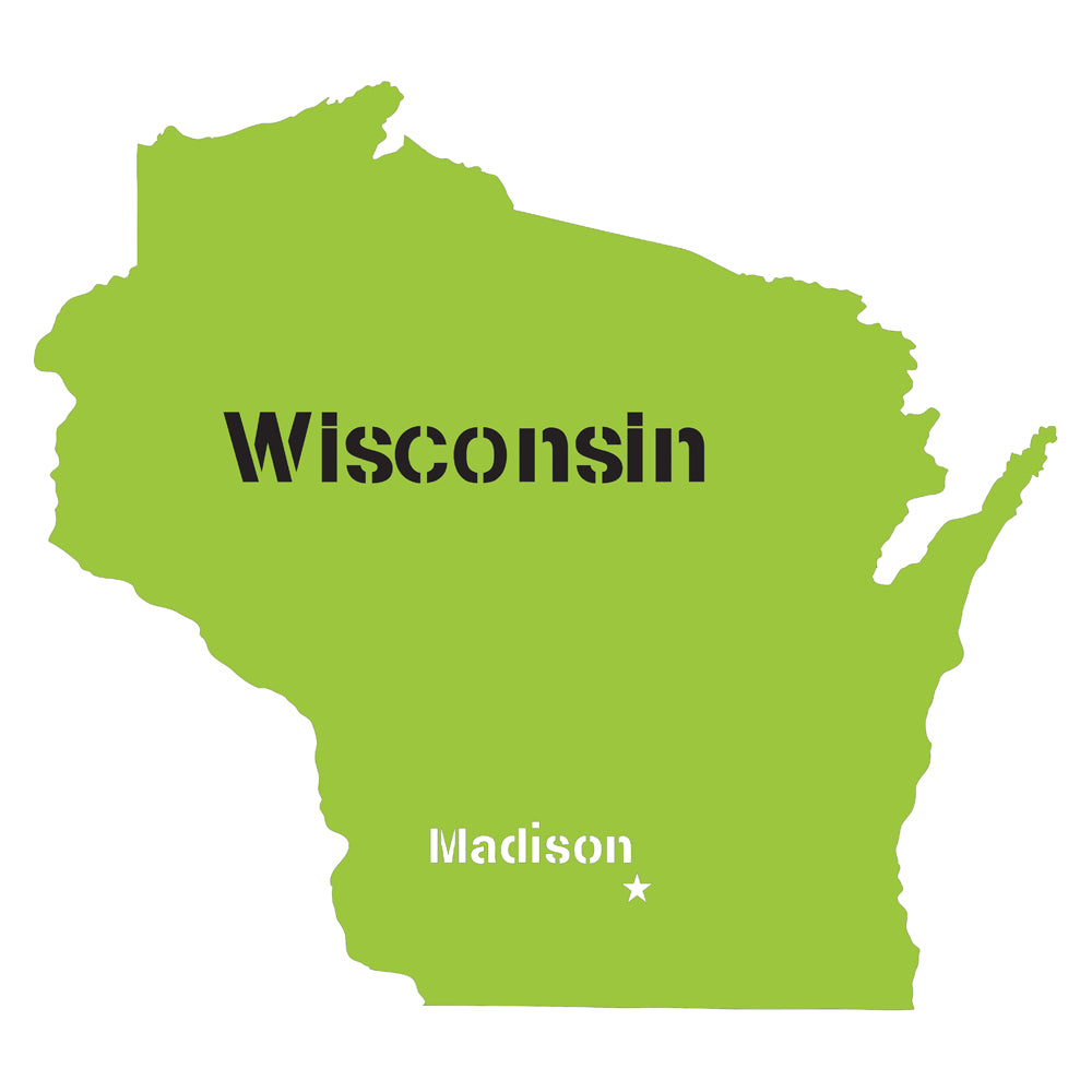 Wisconsin State Map Stencil