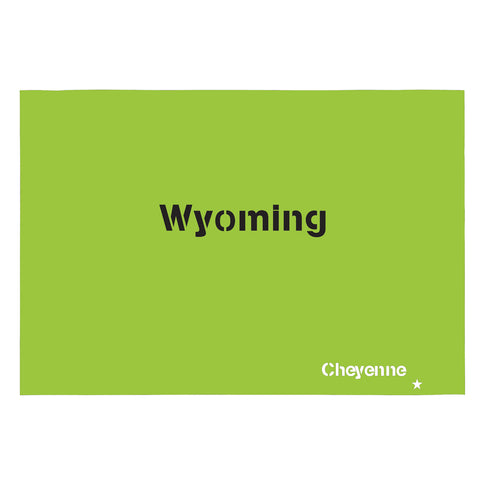 Wyoming State Map Stencil