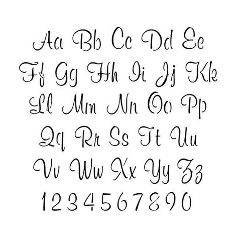 script letter and number stencil sets