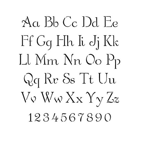 Simple Script Letter and Number Stencil Sets