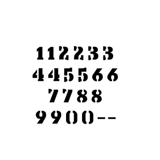 Stencil Export Letter and Number Stencil Sets