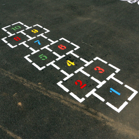Traditional Hopscotch Playground Stencil