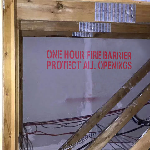 One Hour Fire Barrier Protect All Openings