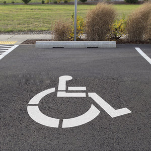 Handicap Parking Lot Stencil