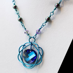 Bead Link Necklaces w Lotus Pendants