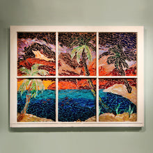 Palm Tree Mosaic Window