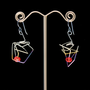 Scribble Earrings w/ Crystal