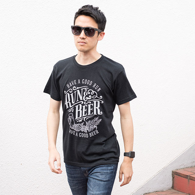 Run & Beer Tee(Black)