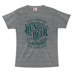 Run & Beer Tee(Gray)