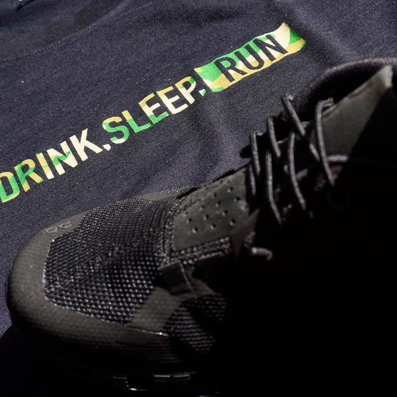 "EAT DRINK SLEEP RUN / STREET Tee Limited ""Camouflage"" Edition 2021 (Black)"