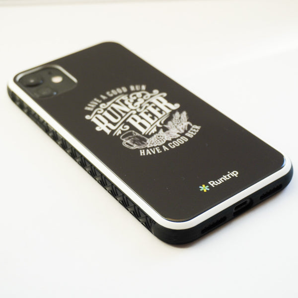 RUN & BEER iPhone11 Case(Black)