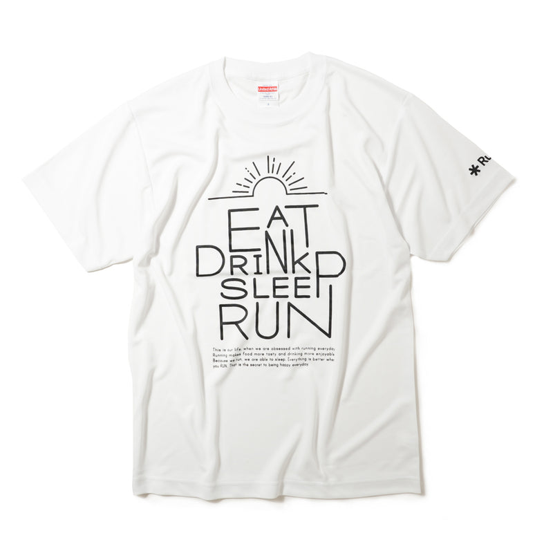 DRY|DRINK SLEEP RUN / Sunrise Tee (White)