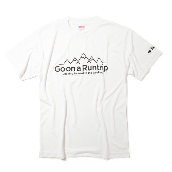 DRY|Go on a Runtrip / Mountain Tee (White)